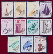 FRANCE 1992 PREOBLITERES N° 213a + 214 à 223** Instruments TTB, precancelled MNH