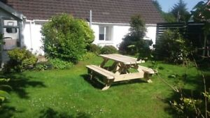 Heavy Duty Garden Picnic Table / Pub Bench 1.8M/6ft *NO Self Assembly required*