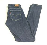 Levis 524 Too Superlow Rise Skinny Leg Dark Wash Blue Denim Jeans Womens Sz 5 M