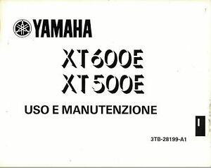 MANUALE LIBRETTO USO e MANUTENZIONE YAMAHA XT 600E XT500E 500 3TB 600 E - Scan
