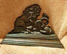 Edwardian bronze door stopper Lion & serpent