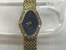 18K Yellow Gold CORUM Diamond Bezel Ladies Classique Quartz Watch .28 TCW