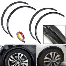 4pcs-72cm Universal Carbon Fiber Fender Flare Protector Car Auto Wheel Body Lip