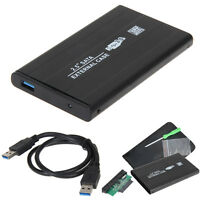 "USB 3.0 SATA 2.5"" inch HD HDD Hard Disk Drive Enclosure External Case Box Black"