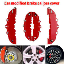 4PCS 3D Red 2 Pairs Style Car Disc Brake Caliper Covers Front & Rear Accessories