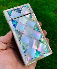 More details for antique victorian mother of pearl engraved cigar or business calling card case