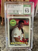 Juan Soto 2018 Topps Heritage #502⚾⚾ CSG 9.5 GEM MINT⚾⚾Rookie RC⚾⚾WSH Nationals*
