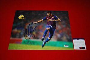 DAVID VILLA fc barcelona spain world cup signed PSA/DNA 11x14 new york city fc 4