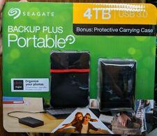 Seagate Backup Plus 4TB Portable External Hard Drive W/ Case - New!!!