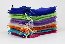 25Pcs Organza Gift Bags Jewellery Christmas Packing Pouches Wedding Party Favour