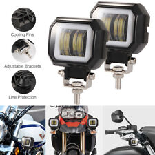 2X 3'' inch LED Spot Work Light Square Driving Pods Offroad Motorcycle SUV 40W