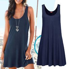MARKE! Strand Longshirt Mini Kleid Gr.32/34 XS Blau marine Tunika