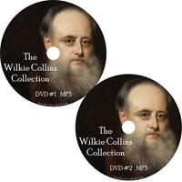 Wilkie Collins Unabridged Audio Book Collection on 2 MP3 DVDs Moonstone Mystery