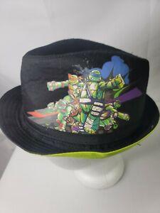 Fedora Teenage Mutant Ninja Turtles Hat Black and Green Youth Nickelodeon 2016