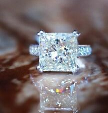 Engagement Ring 925 Sterling Silver Princess Cut Moissanite 3Ct White Chanel