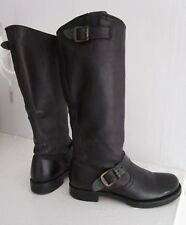 425 FRYE Black Veronica Slouch Tall Boots 77605 ICONIC GO-TO BOOT +Box MINT 7.5