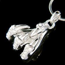 w Swarovski Crystal Raven Eagle Dragon Claw Talon Halloween Costume Necklace New