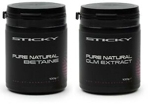 Sticky Baits Pure Naturals 100g Pot Betaine or Pure GLM Extract Fishing Powder