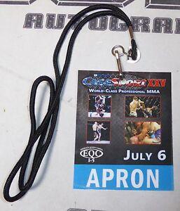 Cagesport XXV MMA Official Cage Apron Pass Julian Erosa UFC TUF Drew Brokenshire
