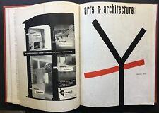 1955 Harry Bertoia ARTS + ARCHITECTURE 12-vol BOUND SET Isamu Noguchi Ellwood CS