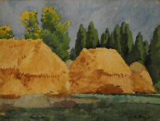 Alfred Bergier. Paysage. Aquarelle sur carton PV18