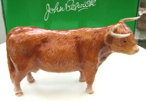 JOHN BESWICK Ceramic Farmyard Animals 2010 - HIGHLAND COW