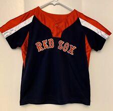 Youth Child 4T Boston Red Sox Majestic Baseball Jersey Shirt Top