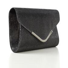 Womens Clutch Bag Purse Ladies Glitter Bridal Shoulder Evening Party Handbag UK