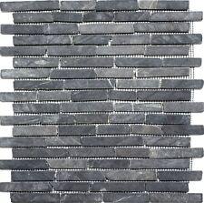 Marmormosaik Verbund uni Nero Marquina Fliesenspiegel Art: 40-0125 | 10 Matten