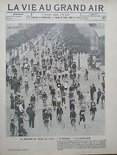 LA VIE AU GRAND AIR 1903 N 264 MARCHE DU TOUR DE PARIS- LE DEPART- 1000 PARTANTS