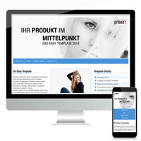 eBay-Template 2020 Ebayvorlage, Auktionsvorlage, Vorlage Responsive Design blau
