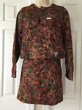 Guess Georges Marciano 2 Piece Skirt Size 29 Crop Jacket Small U.S.A. '90's