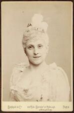 Mathilde Auguez, Soprano française, Opéra-Comique, Photo Cabinet card, Benque