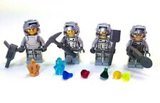 LEGO® power miners minifig lot gray outfit Engineer brains duke rex tools gems