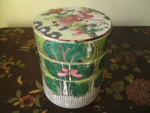 Antique Chinese Cabbage Leaf  Bok Choy Famille Verte porcelain Stacking Box