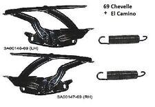 Chevelle El Camino 69 Hood Hinges + springs 4-pc 1969  hinge