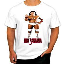 WWE/WWF/WCW VINTAGE RETRO STYLE T SHIRT 2 STYLES- TITO SANTANA