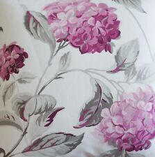 Purple Hydrangea Laura Ashley Floral Printed Cotton Fabric Sold by Metre