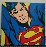 The Superman Hand Painted Original Oil Painting By Cargill Justice League Hero