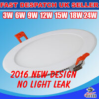 3W-24W ULTRA SLIM LED ROUND/SQUARE RECESSED CEILING FLAT PANEL DOWN LIGHT 6000K