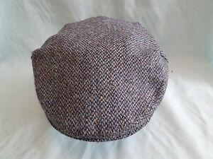 Scottish harris tweed 100% pure wool flat cap driving hat from SCOTLAND