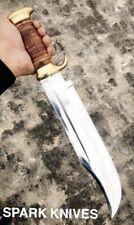 """18"""" SPARK CUSTOM HANDMADE D2 HUNTING CROCODILE DUNDEE HIGH POLISH BOWIE KNIFE"""