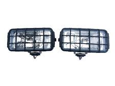 2x Fernscheinwerfer Zusatzscheinwerfer 195x95x88 Schutzgitter 12 24V Chrom SET