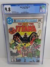 New Teen Titans #1 (1980) CGC 9.8 2nd Raven, Starfire & Cyborg DC Comics Perez