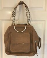 New Daniella Lehavi Hobo Bag Croc Embossed Leather Women's Taupe Crossbody $458