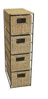 4 Drawer Seagrass Storage Unit - Home Storage Free P&P Special Price Bed Bath