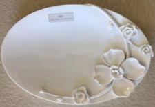 RAYMOND WAITES WHITE FLOWERS FLORAL SOAP DISH