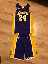 Vintage Kobe Bryant Adidas Los Angeles Lakers Jersey Shorts NBA M Youth 11/12
