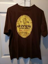 GUINNESS BEER Distressed Logo Graphic T-shirt Men's XL