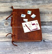 blank paper cowhide Blank Diaries Journals notebook  leather rope D20141017
